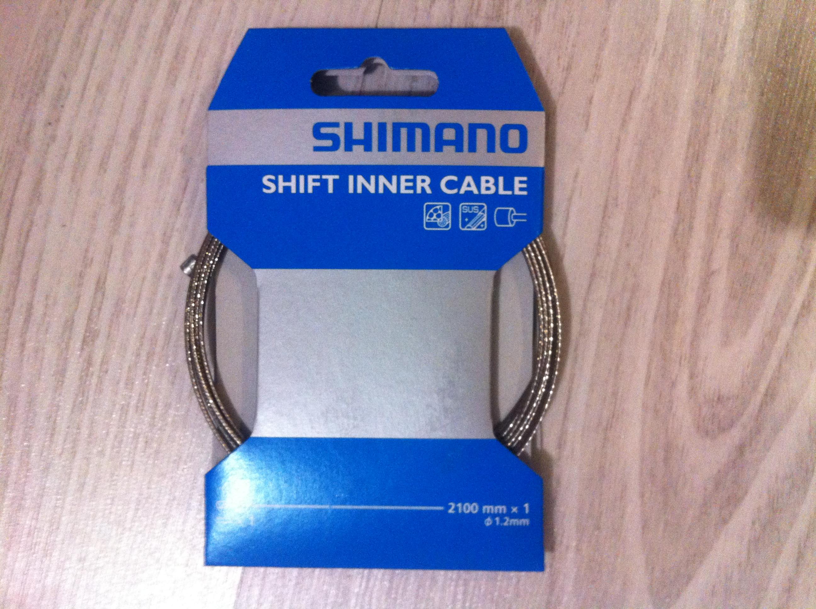 Трос переключения Shimano 1.2х1200мм из нержавейки  2 штуки