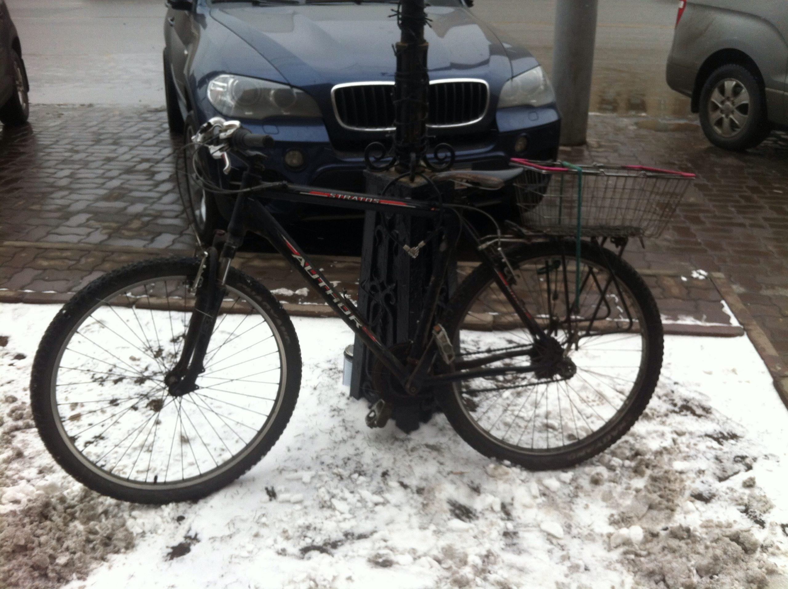 Поездка с сильным ветром и снегом