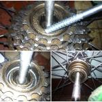 Снятие, разборка и установка трещотки на велосипеде