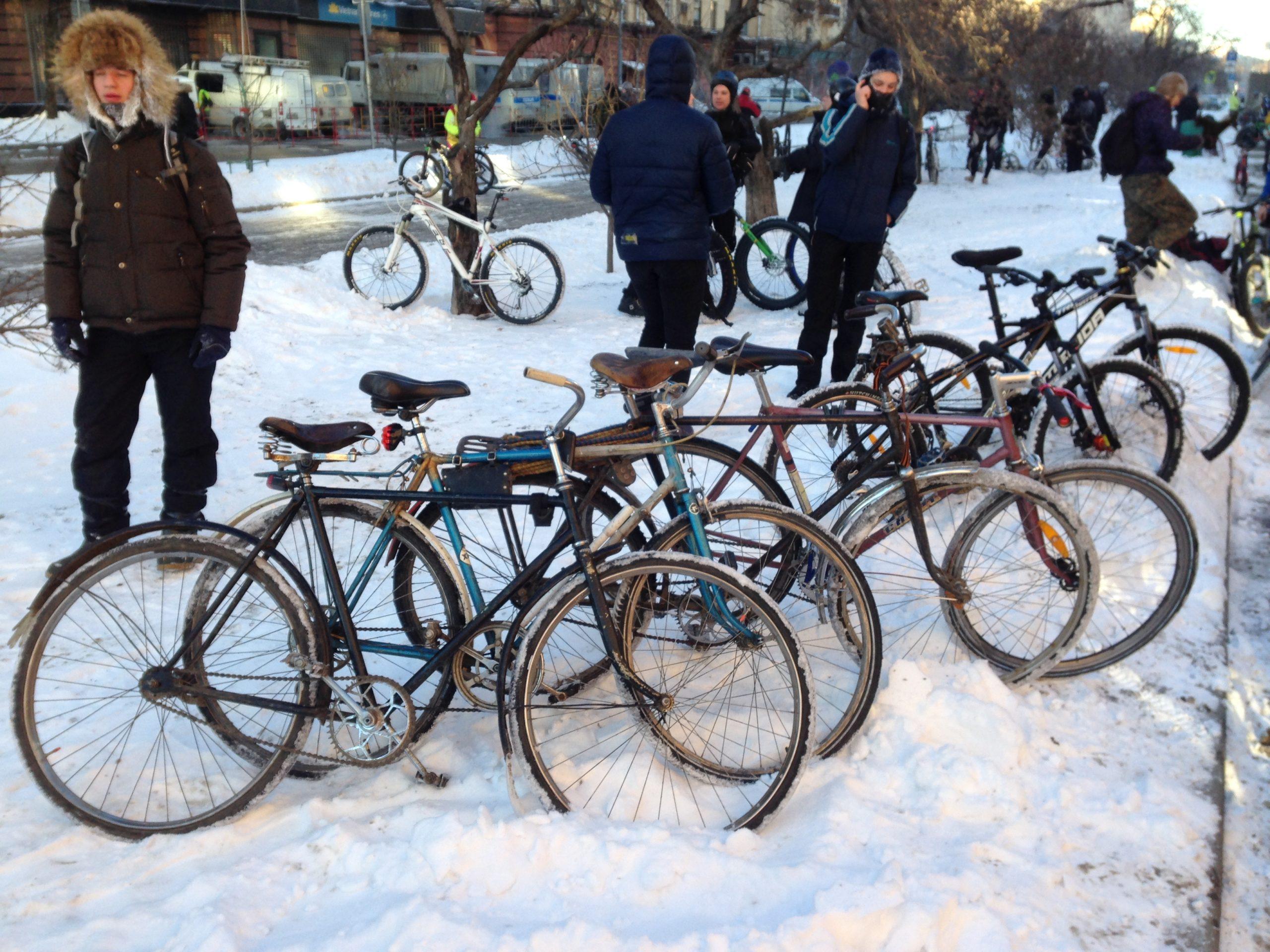 Второй зимний велопарад