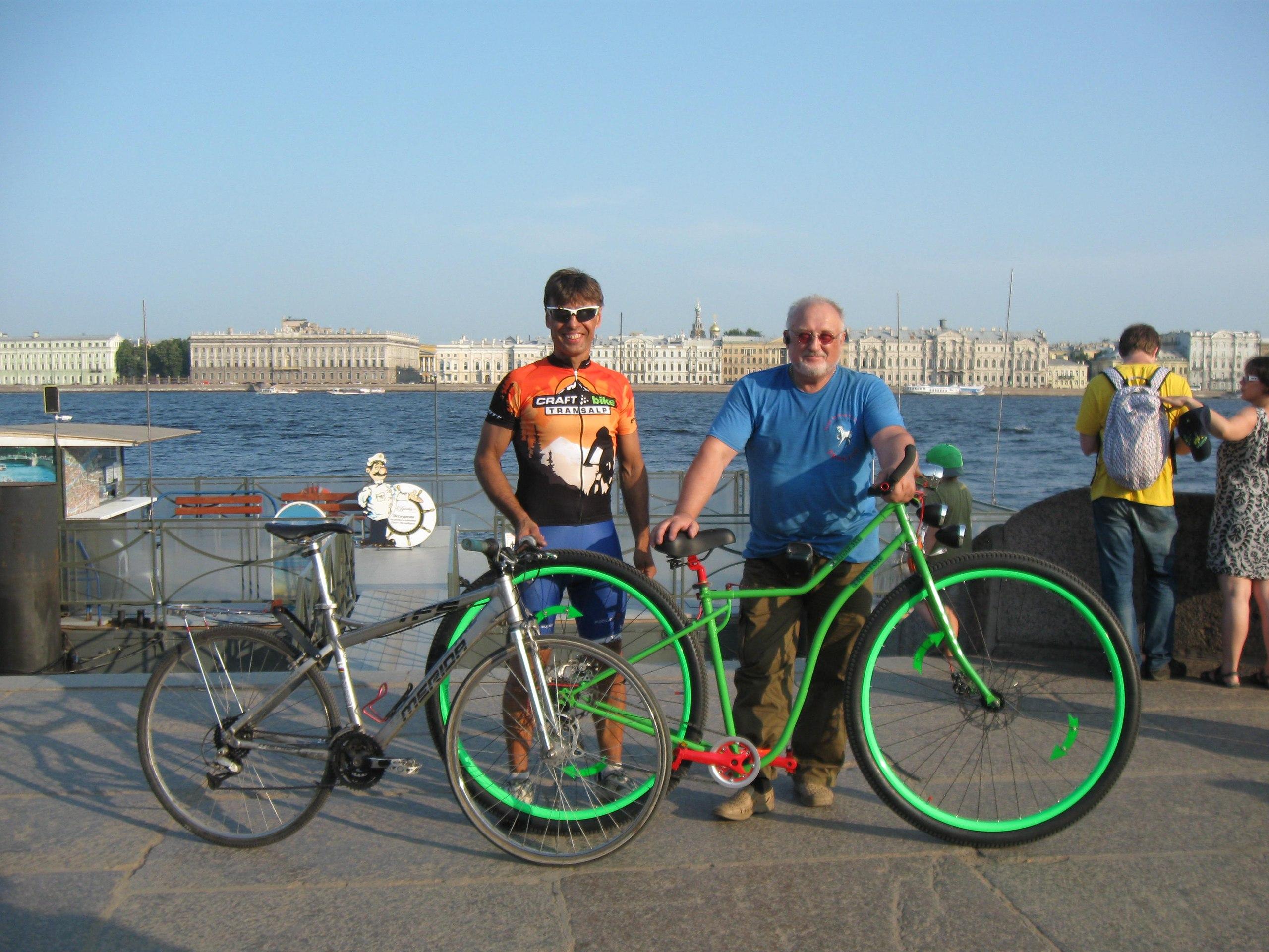 Велосипед с 36 колесами в сравнении с велосипедом с 26-ми