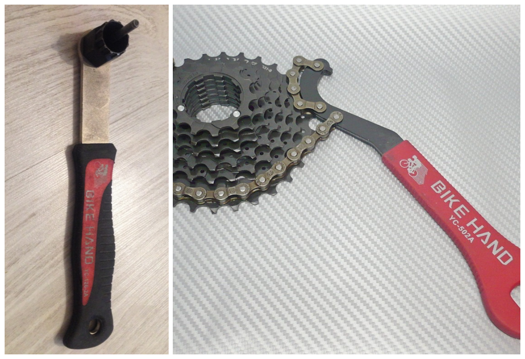 инструменты для снятия кассеты велосипеда