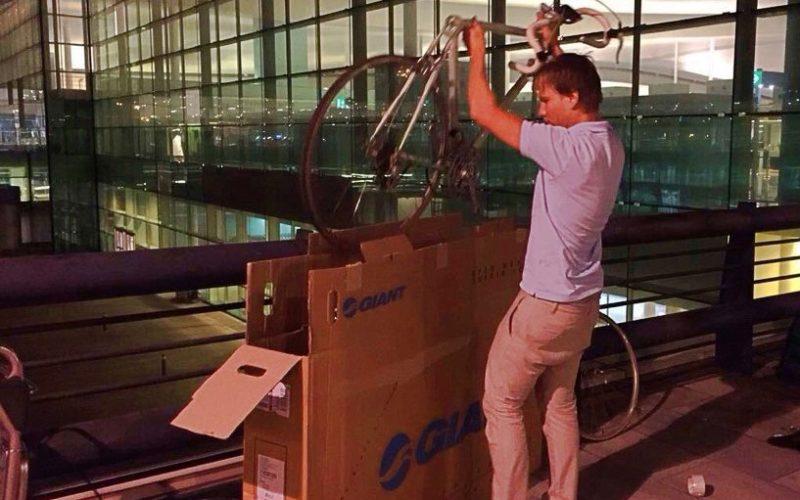 Как помещается велосипед в коробку?