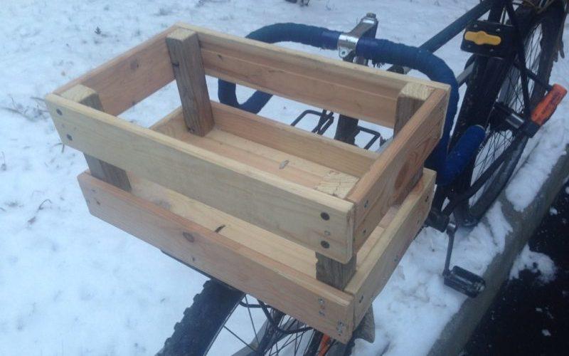 Как я корзинку для велосипеда делал своими руками
