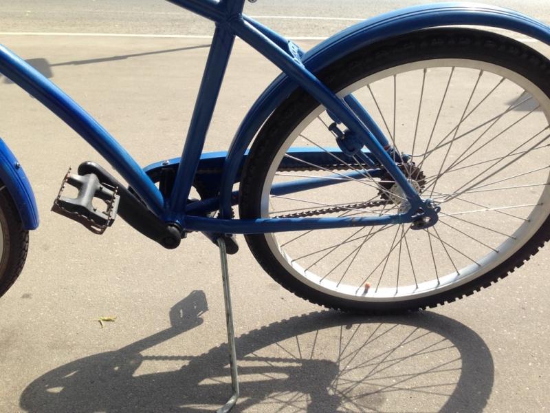 Подножка велосипедная по центру