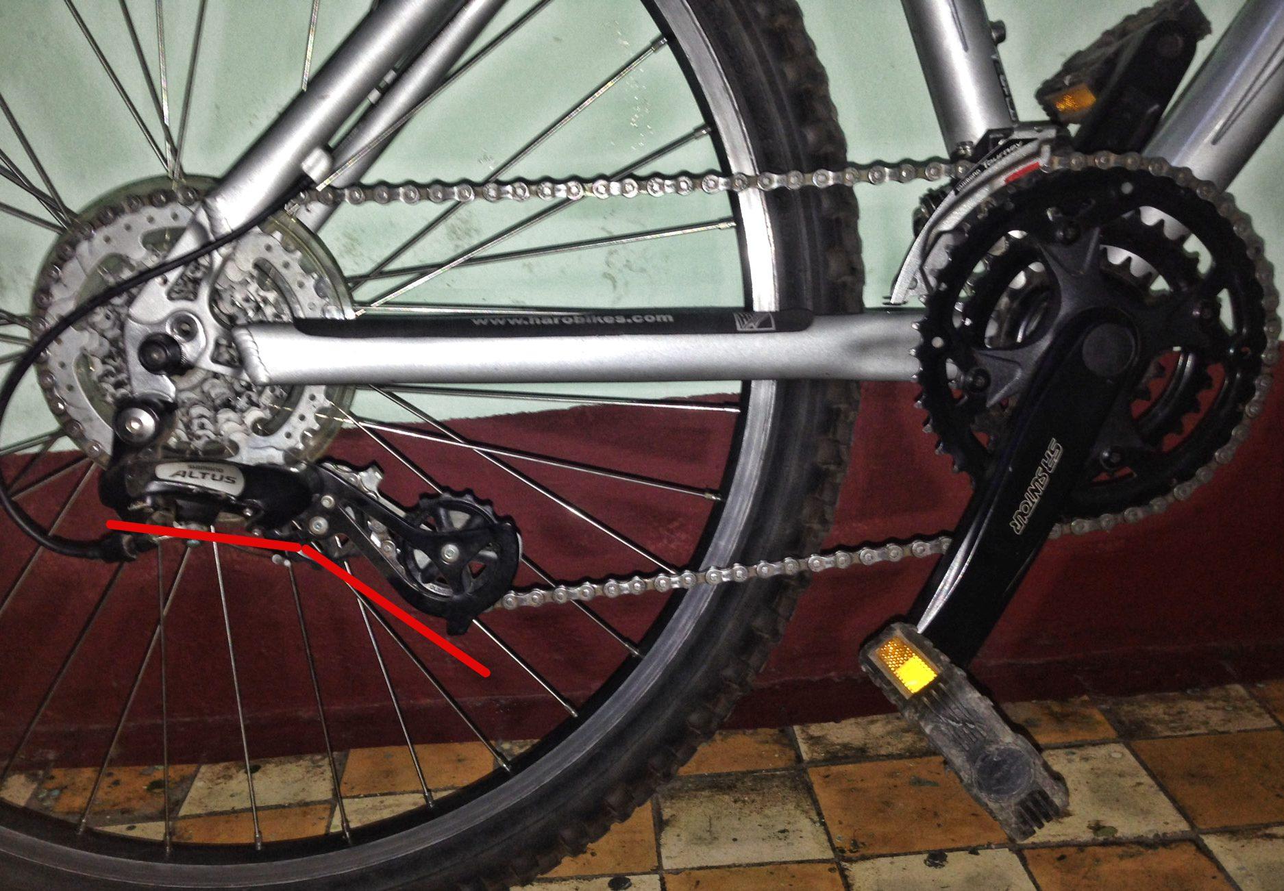 определить длину цепи для горного велосипеда