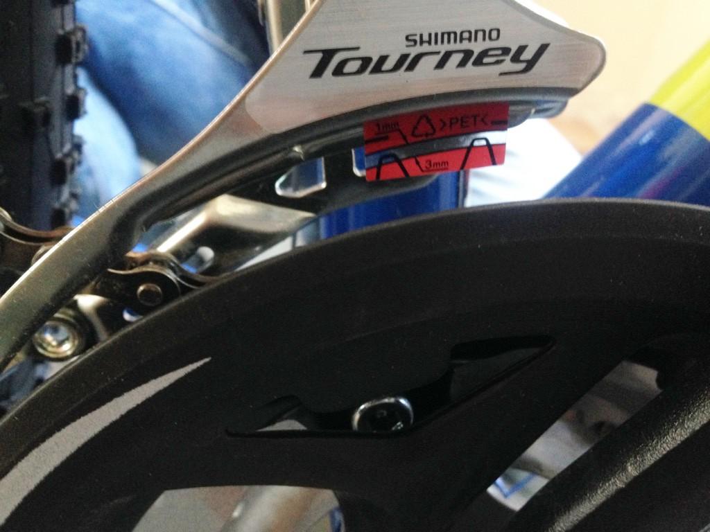 Наклейка на рамке переключателя Shimano Tourney