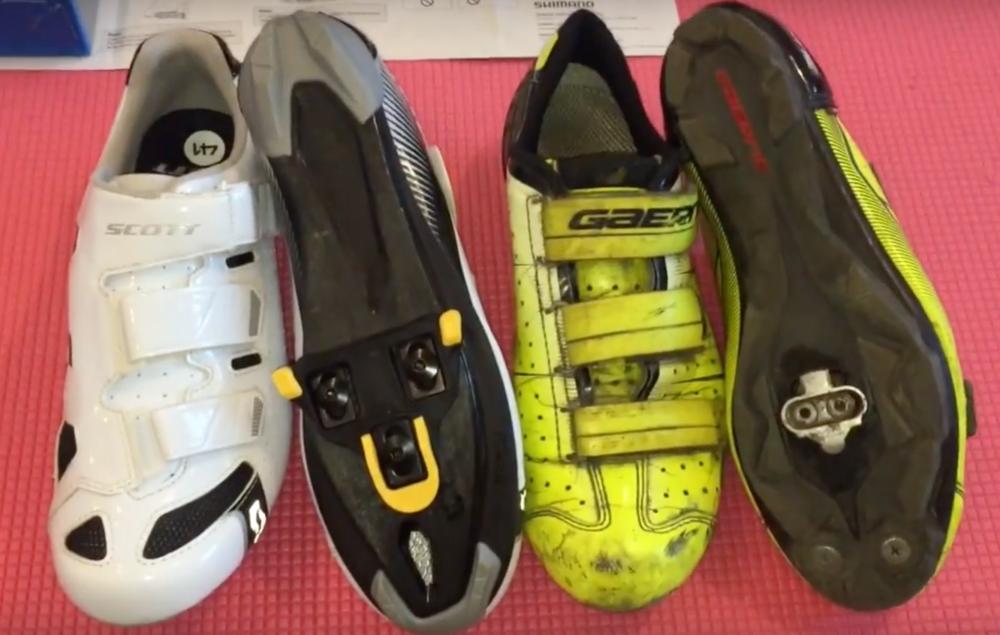 Разница между шоссейной и МТБ обувью, шипами, педалями